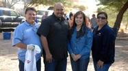 FROM LEFT: Joe Montenegro, Alex Cardenas, Ruth Montenegro and Norma Ruiz volunteer