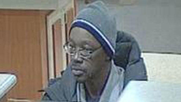 Surveillance photo taken of man who tried to rob a bank at 1209 N. Milwaukee Ave.