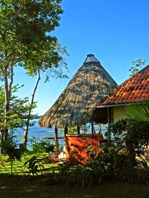 The Cala Mia eco-resort off Panama's western coast has 11 cabanas, which don't have in-room telephones, and there was no cellphone service. The resort runs on solar power.
