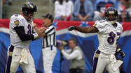"<strong>Nov. 12, 2000:</strong> ""I've worked my whole career to play with a bunch of guys like this,"" quarterback Trent Dilfer says after driving the Ravens 70 yards for a touchdown in the final 2:18 to defeat Tennessee, 24-23. The victory lifts Baltimore to 7-4 and deals the division-leading Titans their first loss in 12 games in their new stadium."