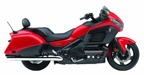 An update of an old school cruiser: the Honda Gold Wing F6B in red.