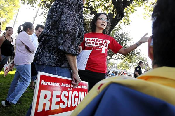 """People told me that what mattered most was the successes we had in Bell, and that went across party lines,"" Cristina Garcia, center, said of her election to the California Assembly."