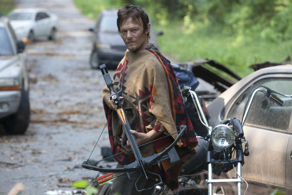 Daryl (Norman Reedus) has a sick stoner poncho, bro.