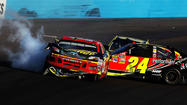 AVONDALE, Ariz. -- The scene got ugly in a hurry Sunday at Phoenix International Raceway.