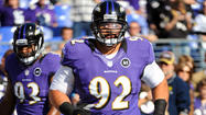 Dealing with a sprained right knee and right shoulder injury, Pro Bowl defensive tackle <strong>Haloti Ngata</strong> didn't play a single snap during the Ravens' 55-20 win Sunday over the Oakland Raiders.