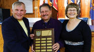 "Ronald ""Catfish"" Fisher was honored by the Boswell American Legion, Post 461 at its annual Veterans Day observance dinner last Saturday."