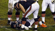 The Chicago Bears had their six-game winning streak snapped and lost quarterback Jay Cutler to a concussion in Sunday night's 13-6 loss to the Houston Texans in front of a crowd of 59,989 at rainy Soldier Field.
