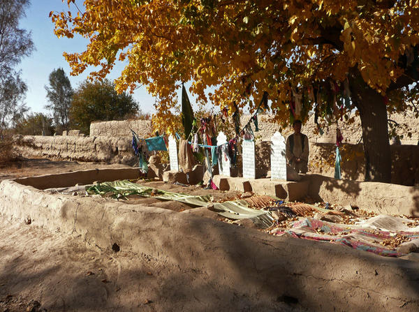 A graveyard in the Panjwai district of southern Afghanistan, near Kandahar, where several of the 16 slain villagers are buried.