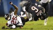 Cutler KO'd as Bears fall 13-6 to Texans