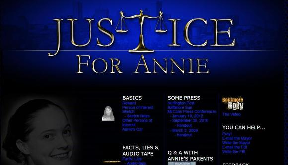 "McCann family launches new ""Justice for Annie"" website"