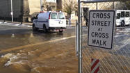 VIDEO Water main break on Madison Street