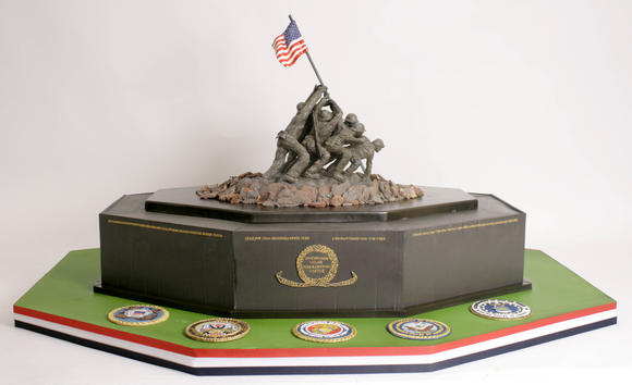 Charm City Cakes made this Iwo Jima cake for the Veterans Day observance at Mission BBQ