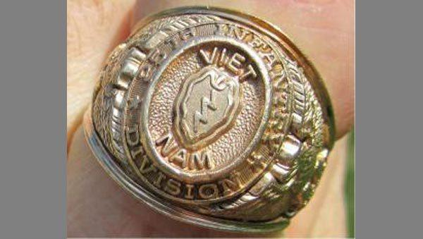 John Jones had this ring made after he served in Vietnam in the late 1960s. He lost it while swimming in 1971.