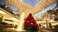 Construction begins on poinsettia tree at Mall in Columbia