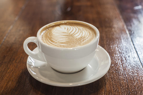 A latte at Bow Truss Coffee Roasters, 2934 N. Broadway.