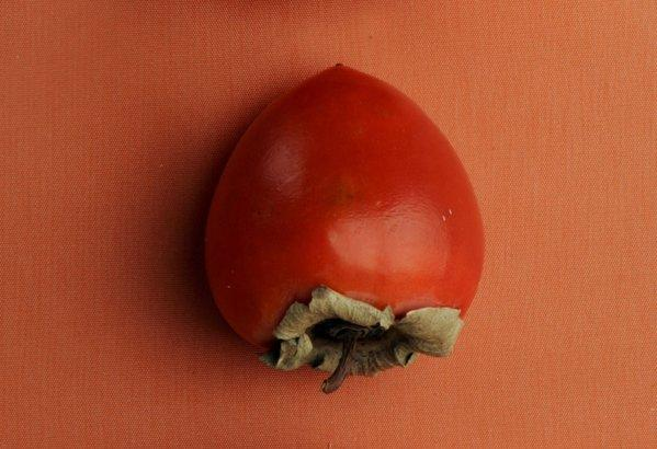 When fully ripe, the acorn-shaped Hachiya persimmon is super soft and a little astringent.