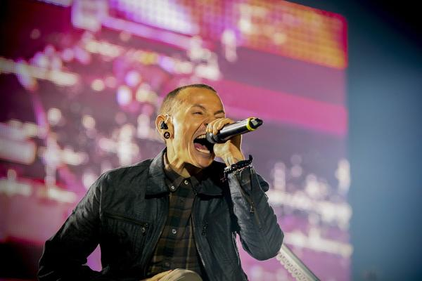 Linkin Park, whose singer Chester Bennington is shown during a recent performance in South Africa, will be part of the 2012 KROQ Almost Acoustic Christmas shows