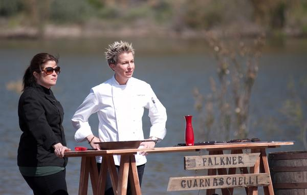 "Elizabeth Falkner is ready to do battle on Season 4 of the Food Network's ""Next Iron Chef America."""