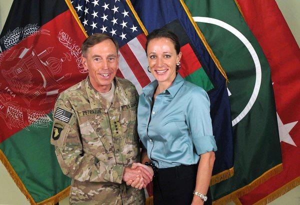 Then-Army Gen. David Petraeus and biographer Paula Broadwell
