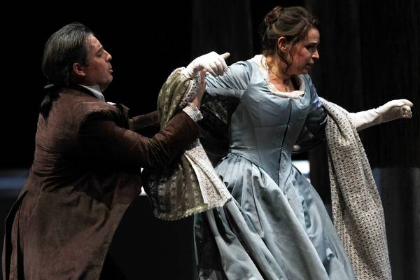 "Matthew Polenzani, left, as Werther, and Sophie Koch, as Charlotte, play frustrated lovers in Lyric Opera's ""Werther."""