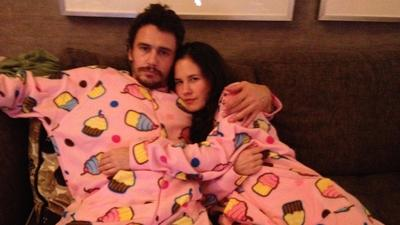 James Franco snuggles in PJs at Hard Rock in Hollywood