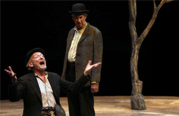"Alan Mandell, left, and Barry McGovern, in a production of ""Waiting for Godot"" by Samuel Beckett, at the Mark Taper Forum earlier this year."