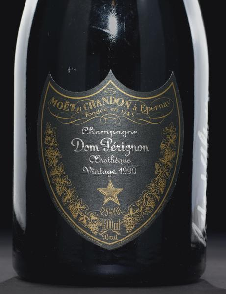 Dom Pérignon Oenothèque -- Vintage 1990, signed by Richard Geoffroy (creator and chef de cave) in Chicago 2007, is pictured in this handout photo from Christie's auction house. Charlie Trotter, whose eponymous restaurant was synonymous with fine dining in Chicago, is auctioning off his million-dollar wine cellar.