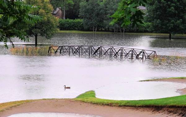 The July 2011 storm flooded the village of Arlington Heights, including the Arlington Lakes Golf Course.