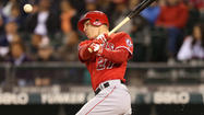 Los Angeles Angels outfield phenom Mike Trout, who led the American League in stolen bases and runs scored and made several incredible defensive plays, including his signature one at the wall at Camden Yards, was named the unanimous AL Rookie of the Year by the BBWAA, it was announced Monday night.