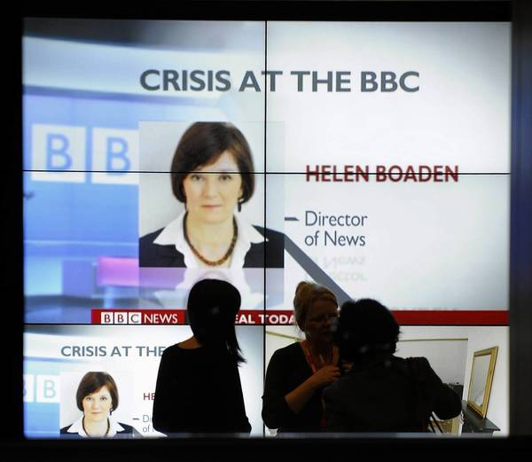 BBC director of news Helen Boaden and her deputy, Steve Mitchell, were suspended amid an inquiry.