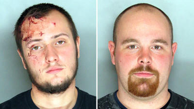 Police have charged two men, Brandon Shane Quinet, 20, of Halethorpe (left) and Allen Warren Lull Jr., 26, of Dundalk, after a fight Sunday afternoon at the North Point Flea Market in Dundalk.