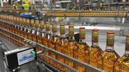 Diageo's new bottling line in Relay