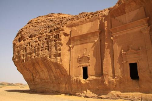 A pair of tombs. Madâin Sâlih's 111 monumental tombs date from the 1st century BC to the 1st century AD.