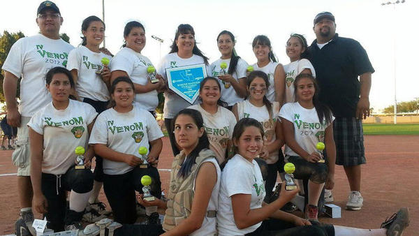 The Imperial Valley Venom recently won the USSSA 2012 Arizona vs. So Cal Border Madness Fastpitch Tournament in Yuma.