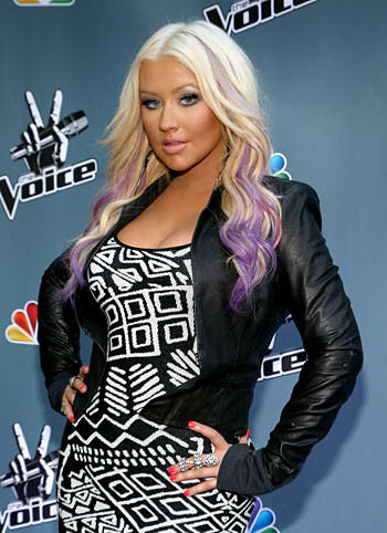 "Christina Aguilera attends NBCUniversal's ""The Voice"" press junket."