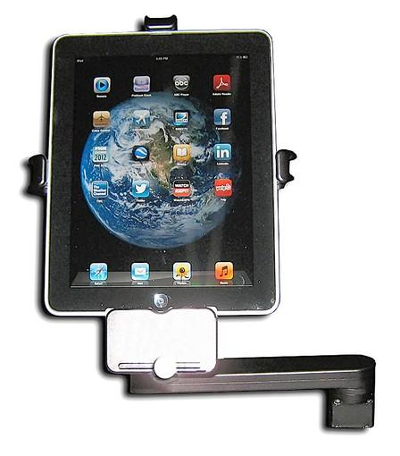 A iPad arm, used to attached the Apple mobile device to a private jet, is now being produced by United Technologies Corp at its interiors facility in North Little Rock, Arkansas. Courtesy of United Technologies Corp.