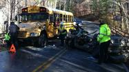 PHOTOS: Person killed in accident involving Roanoke Co. school bus