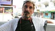"John McAfee, the creator of the McAfee Anti-Virus program that's installed on every computer, is wanted in Belize for murder. It gets better. Turns out McAfee had left the lucrative world of computer software and moved to South America in order to pursue the more lucrative world of cooking bath salts. He also reportedly became paranoid and suffered massive hallucinations after repeated use of the drug. Then he allegedly killed a guy. <a href=""http://gizmodo.com/5959812/john-mcafee-wanted-for-murder"" target=""_blank"">From Gizmodo</a>:"