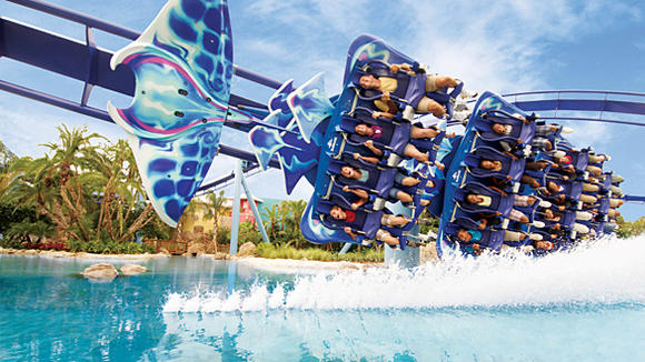 Manta flying coaster at SeaWorld Orlando