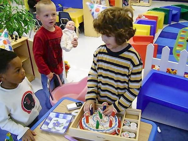 From left, preschool students Joseph Malcolm, Colin Peyton and Edson Baez during a Batavia preschool program. The district is starting a new program.