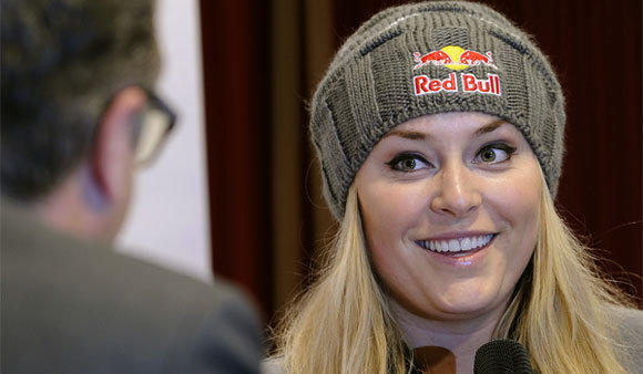 "Skier Lindsey Vonn has been hospitalized for ""severe intestinal pain,"" her spokesman said."