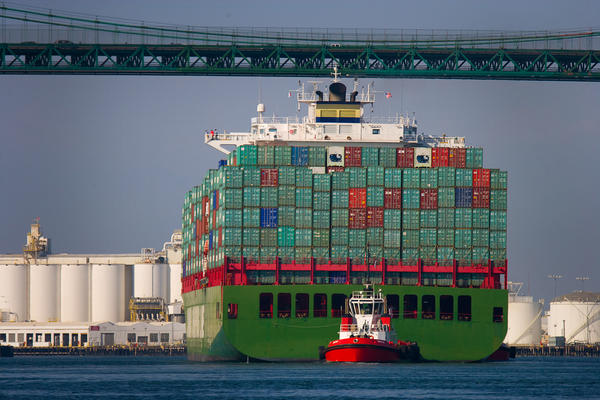 A report released by the National Retail Federation projects that November cargo volume will be up nearly 6% from November 2011. Above, a ship from China entering the Port of Long Beach last week.