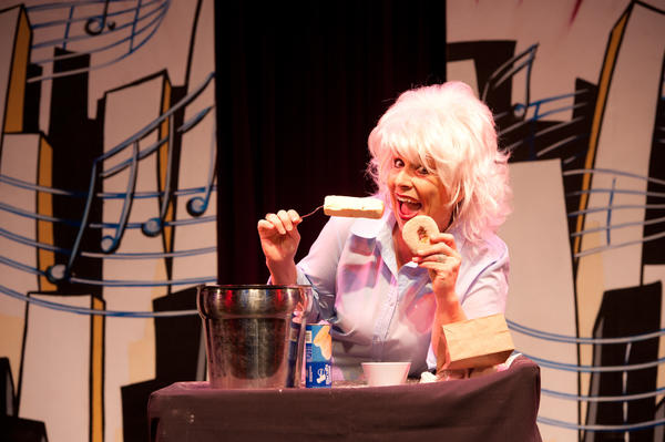"Angela Thomas as Paula Deen in a skit from ""Laffing Matterz."""