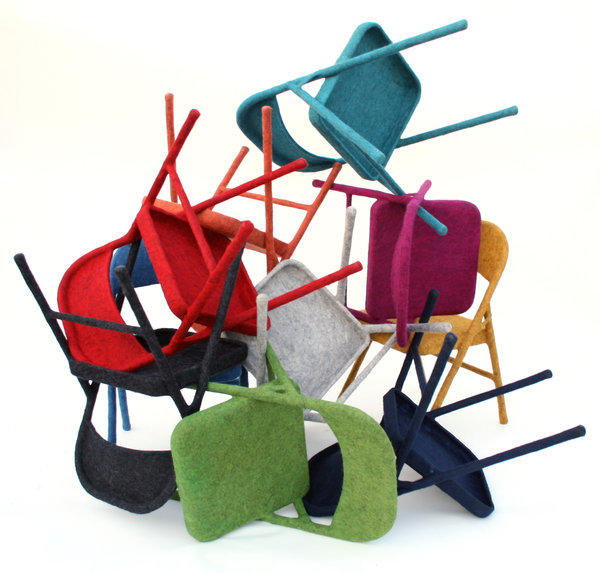 Los Angeles artist Tanya Aguiñiga gained new appreciation with her felted folding chairs, which turned a pedestrian piece of furniture into a modern expression of craft.