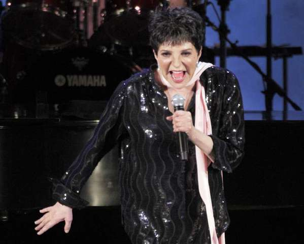 Liza Minnelli at the Hollywood Bowl.