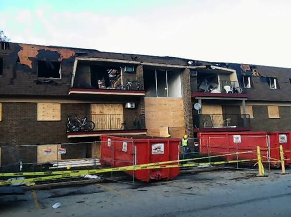 This 24 unit apartment building in West Chicago was almost completely destroyed in a fire Nov. 4.