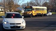 SOUTH BEND – A South Bend school bus was involved in a traffic accident Tuesday afternoon, but nobody was h urt.