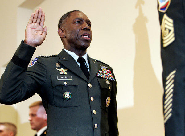 """Gen. William """"Kip"""" Ward, seen in a file photo, has been demoted to a three-star general after his lavish, and improper, spending habits were uncovered."""