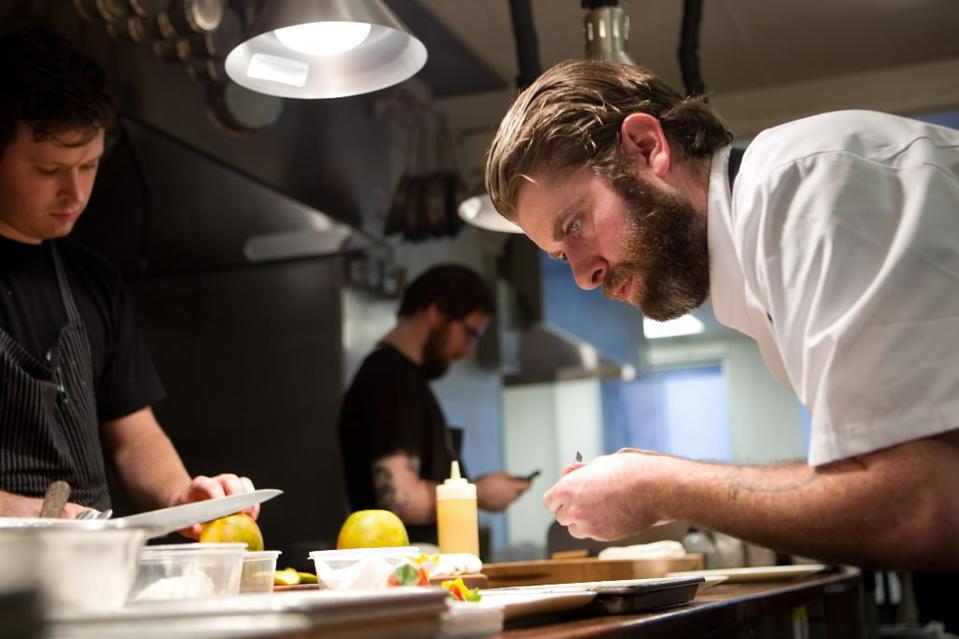 Andrew Brochu, the former executive chef at Graham Elliot restaurant.