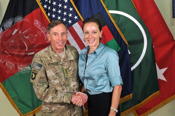 David Petraeus and biographer Paula Broadwell in July 2011.